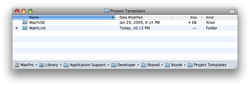 Xcode project template installation
