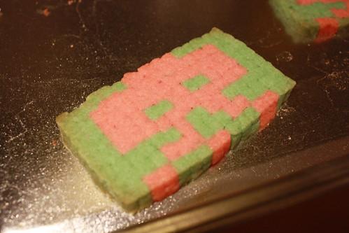 Baked pixel cookie
