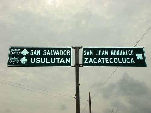 Street sign, El Salvador.