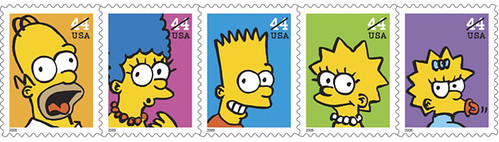 estampillas postales Los Simpson