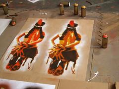 First tests (Tian (Chris a.k.a)) Tags: street urban streetart france art painting paper movie stencil europe paint acrylic native indian tian spray peinture bleu painter aerosol papier lemans soldat bombe sandcreek pochoir soldierblue ian