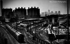 Train Station in b&w.. (Ian Cuison Photography) Tags: bw canon photography photo tracks r