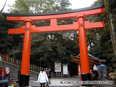 There were many Torii like this in the shrine