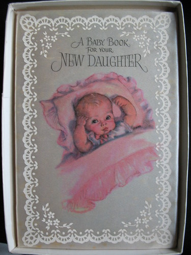 Vintage Birthday Cards A Baby Book For Your New Daughter 1958