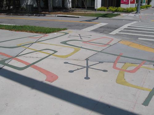 Atomic sidewalk