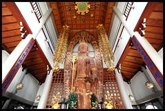 Wood Buddha (NateVenture) Tags: wood japan digital temple tokyo nikon shrine buddha wideangle   nikkor uwa 1828 ultrawideangle afd 18mmf28d d700 1828d