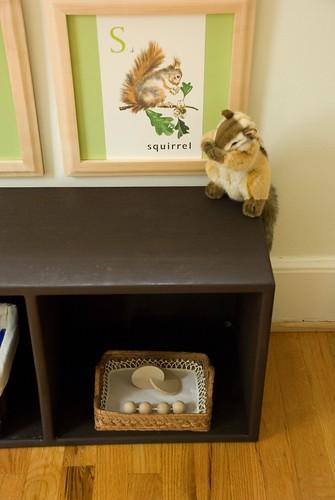 "finn's room :: infant ""work"" shelf with montessori toys"