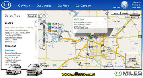 Miles Electric Vehicles of Tulsa, Oklahoma