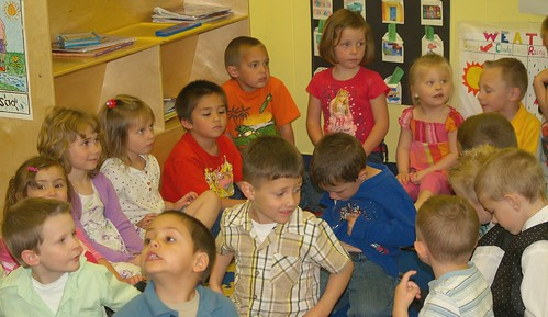 The graduating Pre-school class