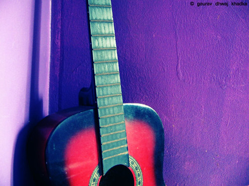 Play my guitar... by Gaurav Dhwaj Khadka