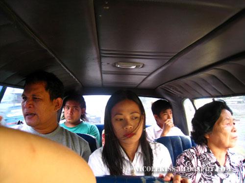 cramped passengers