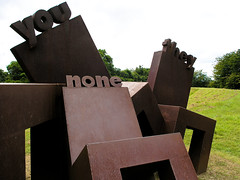 you none they metal chair sculpture (Molinary) Tags: sculpture garden puerto words san juan chairs none puertorico letters jardin rico escultura sanjuan seats botanico jardinbotanicoauxiliogarden
