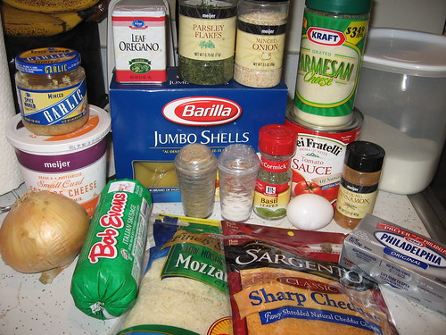 Stuffed Shells ingredients