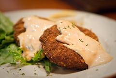 Crabcakes (aubreyrose) Tags: food indiana bloomington crabcakes uplandbrewingcompany