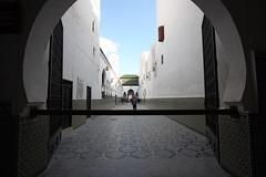 Barred Entrance (MykReeve) Tags: bar gate arch minaret corridor entrance mosque morocco moulayidriss geo:lat=34055055 المملكةالمغربية المغرب مولايإدريس geo:lon=5522754