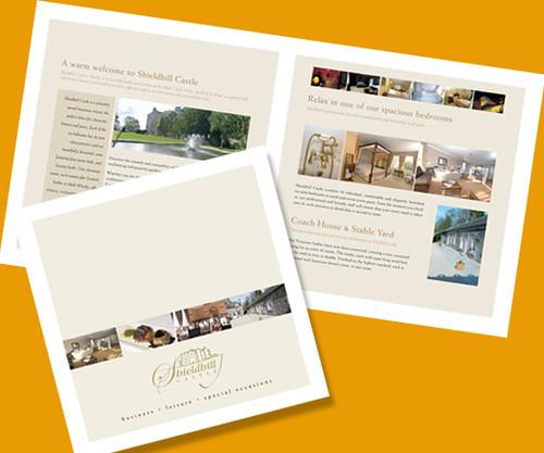 Shieldhill Castle brochure design by G3 Creative