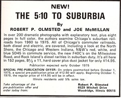 The 5:10 to Suburbia (ad, 1975) (mod as hell) Tags: northshore 1975 milwaukeeroad trainsmagazine chicagowesternindiana 510tosuburbia