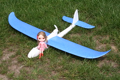Rita and her personal aircraft!