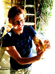 Museum of Death curator Rebecca with her albino turtle (vintage_queen) Tags: losangeles museumofdeath dearlydepartedtours