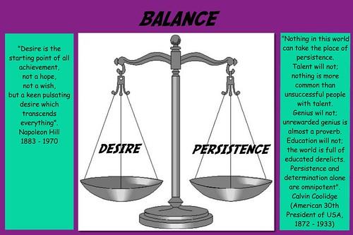 Balance, Desire & Persistence