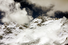 Mystique / Karakoram Mountains (_skynet) Tags: mountain mountains clouds contrast landscape backpacking karakoram traveling fairymeadow karakoramhighway nangaparbat nakedmountain northernareasofpakistan northernareaofpakistan