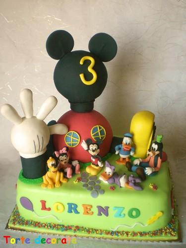 Clubhouse Disney cake