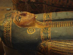 Tiye's Sarcophagus (meechmunchie) Tags: ancient egypt egyptian sarcophagus mummy coffin dynasty funerary 22nd ancientegypt libyan priesthood papacy deirelbahri cartonnage newkingdom 21stdynasty mummycase 22nddynasty psusennes dierelbahri herihor yellowtype rammeside