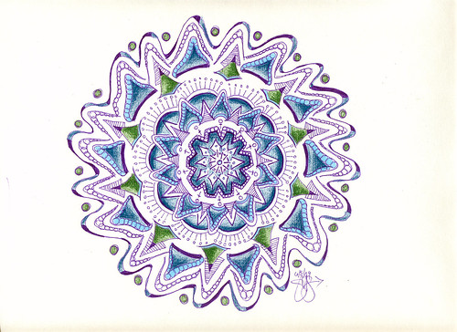 Blue & Green Mandala