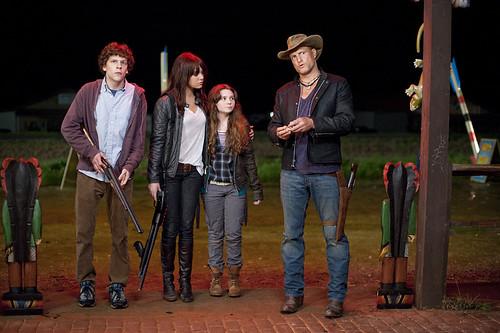 Zombieland Jesse Eisenberg, Emma Stone, Abigail Breslin y Woody Harrelson