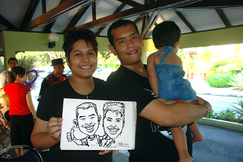 Caricature live sketching for Costa Sands Resort Day 2 - 6