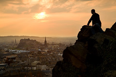 (Surely Not) Tags: sunset portrait self volcano scotland nikon edinburgh seat moo arthurs d700 yourphototips