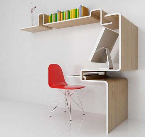 plywood desk shelf, or shelf desk, or...?