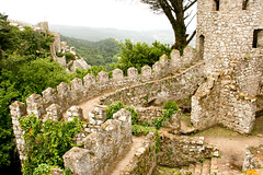 Moorish Fortress (Eva Rees) Tags: city trip travel food green abandoned portugal architecture forest walking us woods europe decay sintra sightseeing culture palace moorish moors local lush rtw smalltown decaying cultural roundtheworld foreignfoods