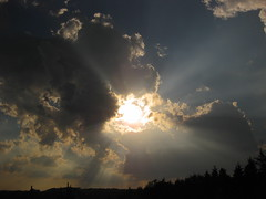 Let there be light...Genesis 1:3 (Stevie Steve Steven) Tags: family sunset sky mountains rain weather wisconsin kids clouds children babies wind horizon families sunsets fields lightning plains storms thunder horizons rainstorms tornadoes danecounty funnelclouds