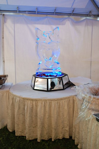 And they had an ice sculpture.  Personally, I think ice sculptures are a waste of money, but if its your thing and you have the extra budget, then it does make a nice decoration.
