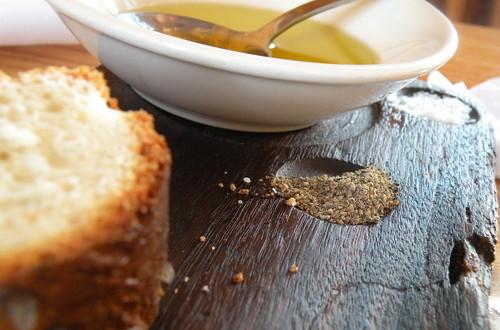 bread, olive oil, salt & pepper