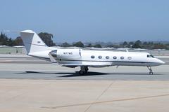 Gulfstream G4 (cmorrisonphoto) Tags: monterey airport king taxi air united off landing g5 take 100 express 90 1000 challenger 900 gulfstream phenom embraer ksfo giv crj200 g550 ksjc cl604 kmry g650