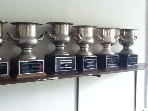 Debate Trophies at Northwestern University