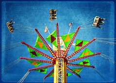 Riding high (Irene2005) Tags: 35mm high ride vertigo raleigh hss ncstatefair fromthearchives f20 primelens roundandround nikond90 texturebyessenceofadream sliderssunday