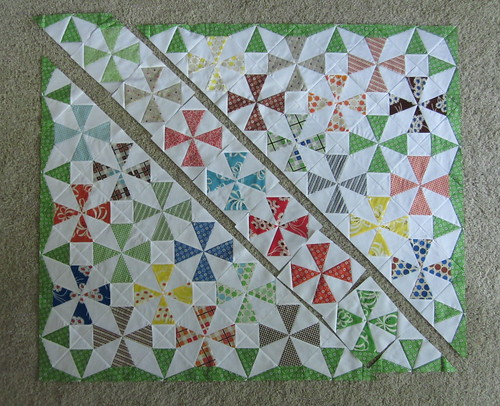 Saltwater Taffy Quilt #2 - progress J