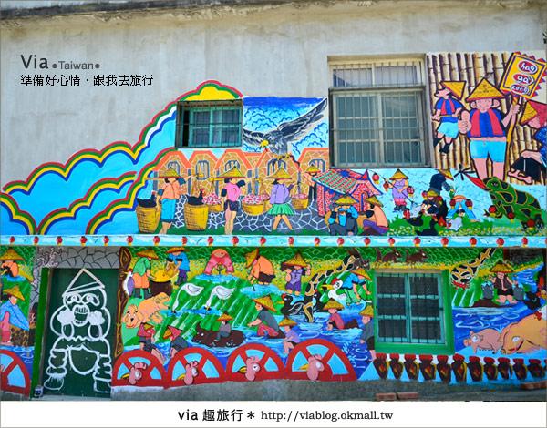 【彩繪客家村】驚豔,彩繪村!新竹竹東鎮軟橋社區尋彩趣35