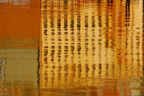 abstract photograph gold building reflections