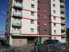 Polden House - main entrance (lydia_shiningbrightly) Tags: bristol flats highrise housing towerblock windmillhill socialhousing councilhousing housingestates bristolcitycouncil polden