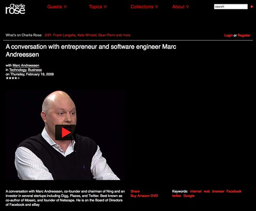 Charlie Rose - A conversation with entrepreneur and software engineer Marc Andreessen_1235390297833