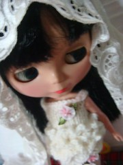 knitted wedding dress for blythe & dal