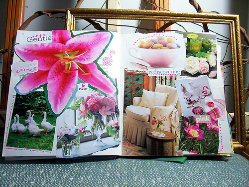 colours of my life altered book - rediscovering pink