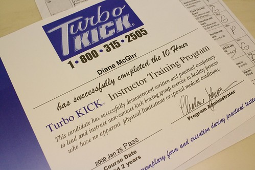 Turbo Kick Certification