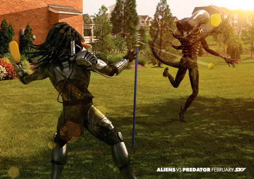 Alien vs Depredador Sky pelota