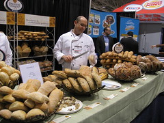 Premiere Moisson Bakery (Rene S. Suen) Tags: food toronto bread display olive baguette raisin hazelnut ciabatta premieremoisson renedinesout 2009crfashow canadianrestaurantandfoodservicesassociation
