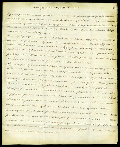 old, vintage letter 1840 - texture